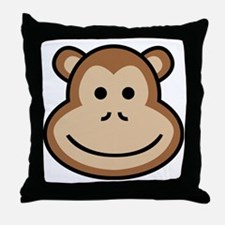 Cute Apes and babes Throw Pillow
