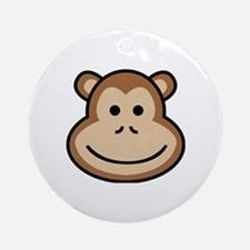 Cute Apes and babes Round Ornament