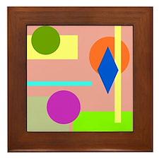 Rainbow Room Framed Tile