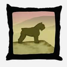 Hazy Sunrise Bouvier Throw Pillow