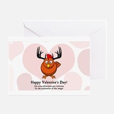 The Horned Rooster Greeting Cards