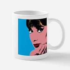 Audrey Hepburn Blue Dots Mug