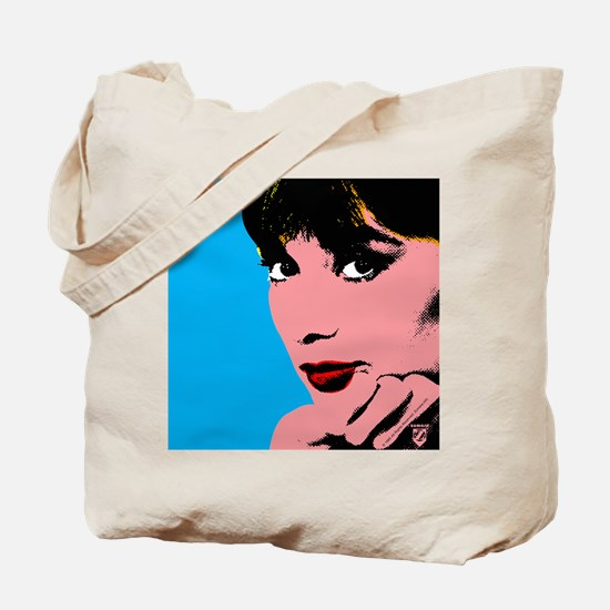 Audrey Hepburn Blue Dots Tote Bag
