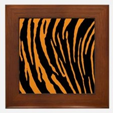 Tiger Stripes Framed Tile