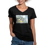 Halloween 45 Women's V-Neck Dark T-Shirt