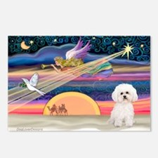 Xmas Star & Bichon Postcards (Package of 8)