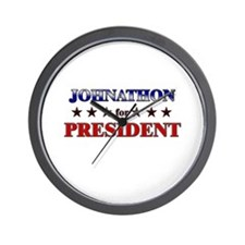JOHNATHON for president Wall Clock
