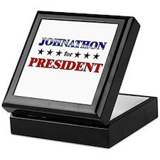 JOHNATHON for president Keepsake Box