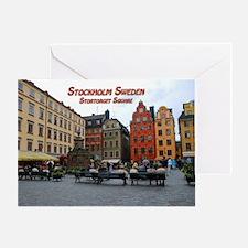 Stortorget Square - Stockholm Sweden Greeting Card