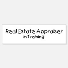 Real Estate Appraiser in Trai Bumper Car Car Sticker
