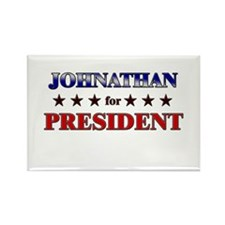 JOHNATHAN for president Rectangle Magnet