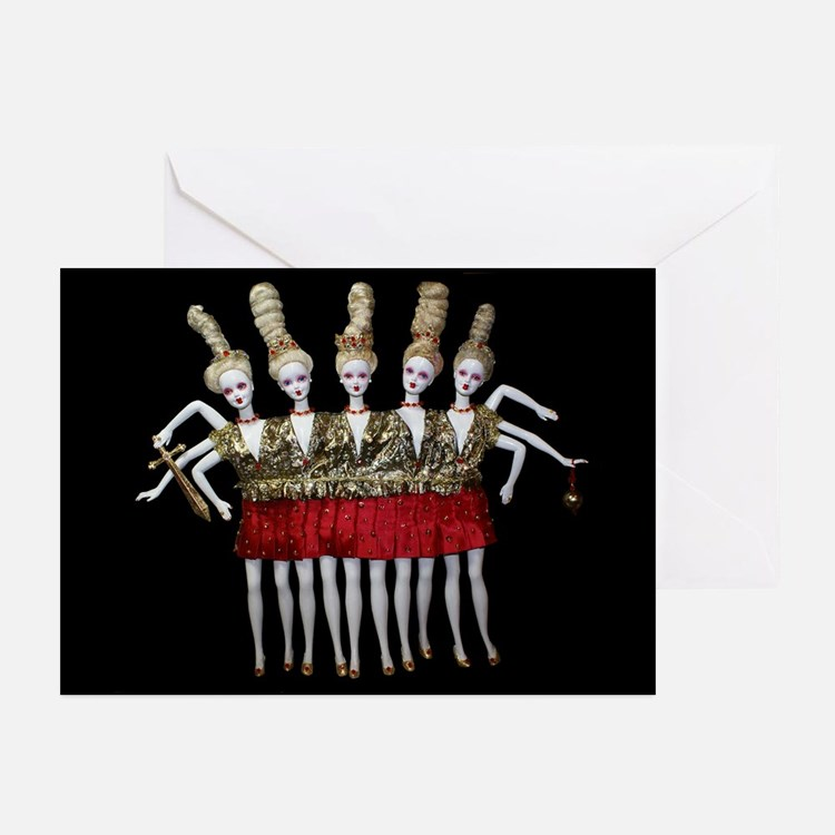 Conjoined Chorus line - Greeting Cards (Pk of 20)
