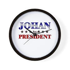 JOHAN for president Wall Clock