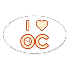 I Love the OC Oval Decal
