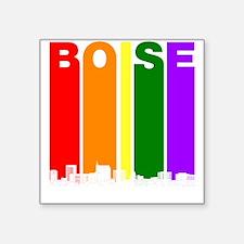 Boise Idaho Gay Pride Rainbow Skyline Sticker
