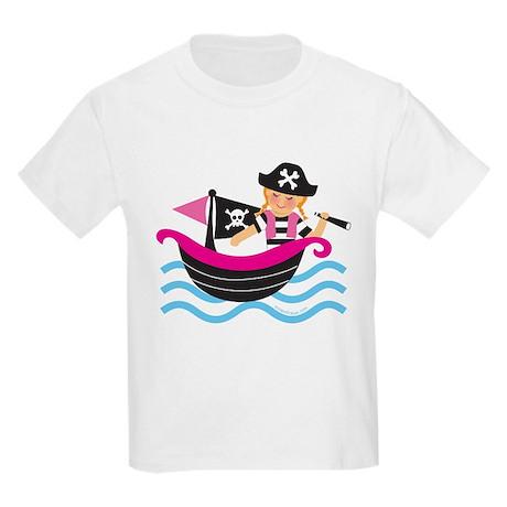 Pirate Girl Kids Light T-Shirt
