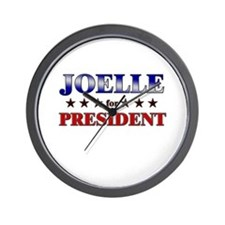 JOELLE for president Wall Clock