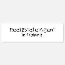 Real Estate Agent in Training Bumper Bumper Bumper Sticker