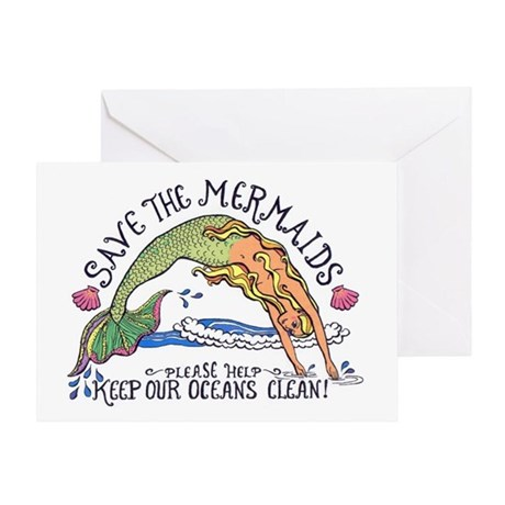 Save the Mermaids Greeting Card