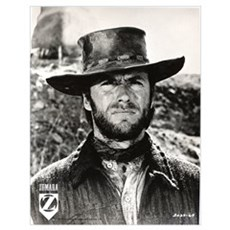 Clint Eastwood Black and White Wall Art Poster