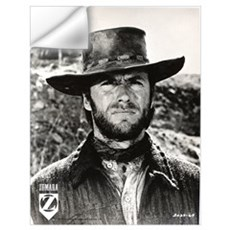 Clint Eastwood Black and White Wall Art Wall Decal