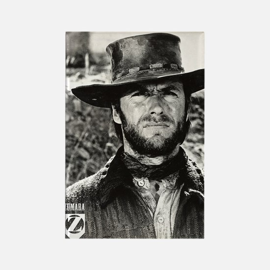 Clint Eastwood Black and White Rectangle Magnet