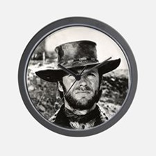 Clint Eastwood Black and White Wall Clock