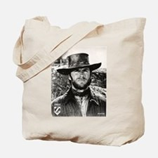 Clint Eastwood Black and White Tote Bag