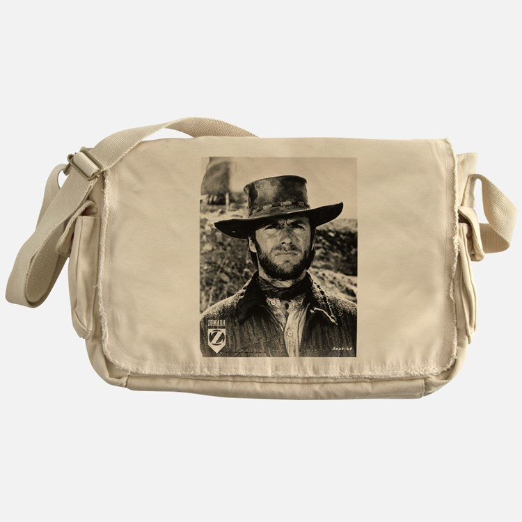 Clint Eastwood Black and White Messenger Bag
