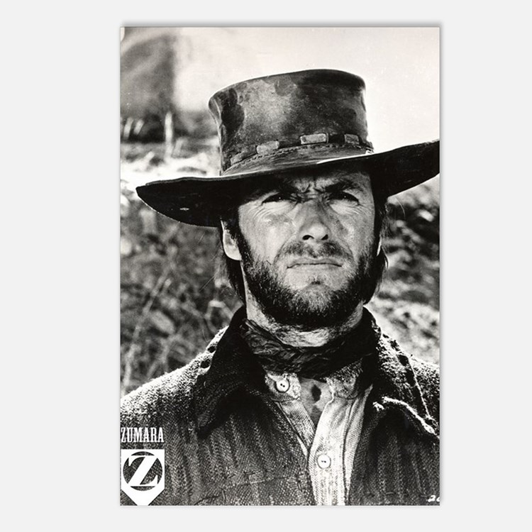 Clint Eastwood Black and Postcards (Package of 8)