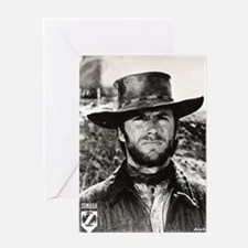 Clint Eastwood Black and White Greeting Card