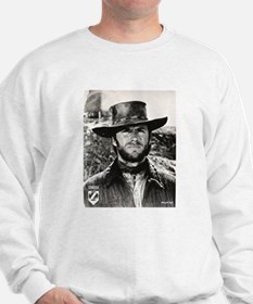 Clint Eastwood Black and White Sweatshirt
