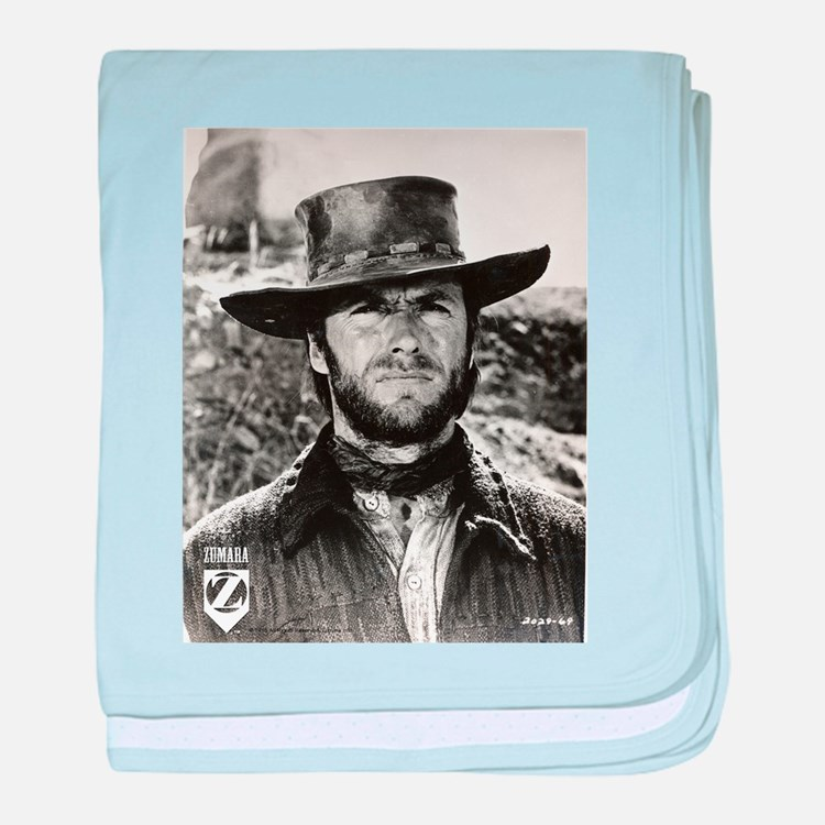 Clint Eastwood Black and White baby blanket