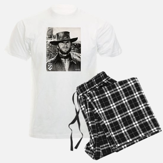 Clint Eastwood Black and Whit Pajamas