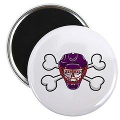 Hockey Skull & Crossbones Magnet