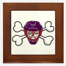 Hockey Skull & Crossbones Framed Tile