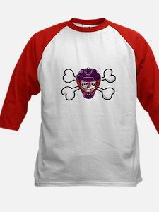 Hockey Skull & Crossbones Kids Baseball Jersey