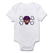 Hockey Skull & Crossbones Infant Bodysuit