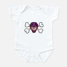 Hockey Skull & Crossbones Infant Bodysuit