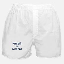 Kenneth is a Boob Man Boxer Shorts