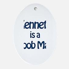 Kenneth is a Boob Man Oval Ornament