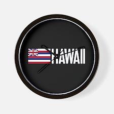 Hawaii: Hawaiin Flag & Hawaii Wall Clock