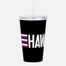 Hawaii: Hawaiin Flag & Hawaii Acrylic Double-wall