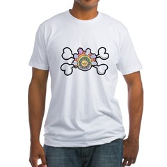 Happy Rainbow Sun & Crossbones Fitted T-Shirt