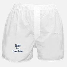 Liam is a Boob Man Boxer Shorts