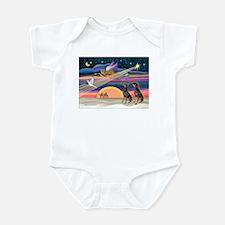 XmasStar/2 Dobies Infant Bodysuit