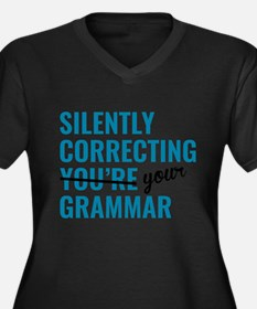 Silently Correcting You're Grammar Plus Size T-Shi