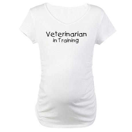 Veterinarian in Training Maternity T-Shirt