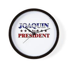 JOAQUIN for president Wall Clock