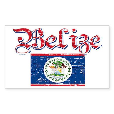 Belizean Flag Rectangle Sticker